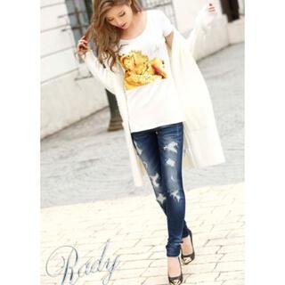 レディー(Rady)の♡Rady♡クラッシュスキニーデニム R030♡インディゴブルー♡26インチ♡(デニム/ジーンズ)
