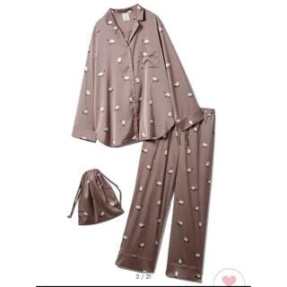 gelato pique - 【ONLINE 限定】シャムネコサテンシャツ&ロングパンツ&巾着SET