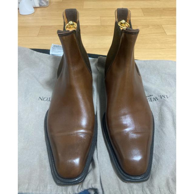 J.M. WESTON(ジェーエムウエストン)のJ.M.weston JMウェストン 純正ツリー付属 サイドゴアブーツ 6.5E メンズの靴/シューズ(ドレス/ビジネス)の商品写真
