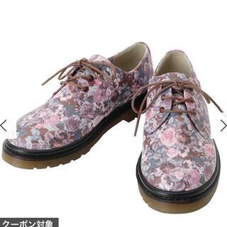 メリージェニー(merry jenny)のメリージェニー フラワー ラバーソールシューズ ピンク L(ローファー/革靴)