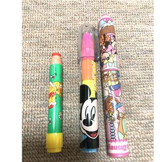ディズニー(Disney)の【週末セール】【新品未使用】ディズニー 鉛筆形 消しゴム3個セット(消しゴム/修正テープ)