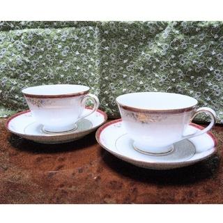 ノリタケ(Noritake)のノリタケ ティーカップ&ソーサー 2個セット(食器)