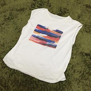 ノンブルアンベール(nombre impair)のフレンチスリーブドローイングTシャツ(Tシャツ(半袖/袖なし))