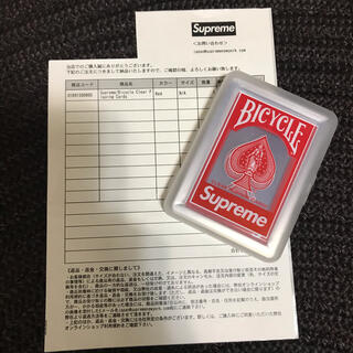 Supreme - Supreme Bicycle Clear Playing Cards トランプ