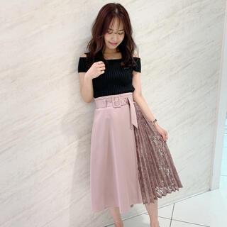 エブリン(evelyn)の新品 アンミール     レース切替スカート(ひざ丈スカート)