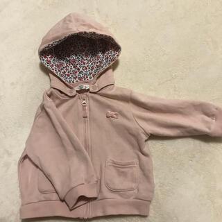 アカチャンホンポ(アカチャンホンポ)のベビーパーカー ピンク 花柄 80(ジャケット/コート)