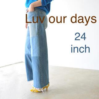 シップスフォーウィメン(SHIPS for women)のLuv our days ラブアワーデイズ パッチワークデニム(デニム/ジーンズ)