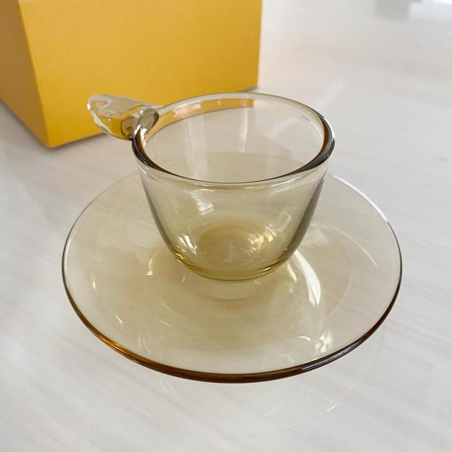 Sghr(スガハラ)のsghr デミタスカップ&ソーサー4客セット インテリア/住まい/日用品のキッチン/食器(グラス/カップ)の商品写真