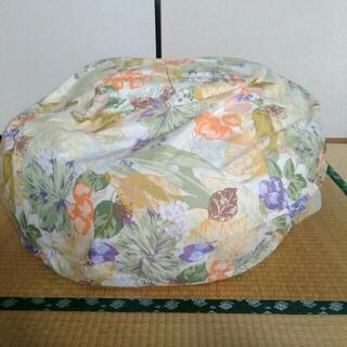 クッションカバー円形 大型なので 毛布や羽布団などを詰めて フカフカが作れる(ソファカバー)