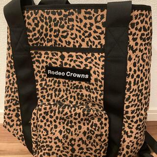 ロデオクラウンズワイドボウル(RODEO CROWNS WIDE BOWL)のロデオクラウンズワイドボウル レオパードバックパック 新品(リュック/バックパック)