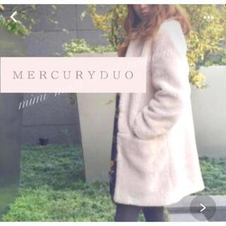 マーキュリーデュオ(MERCURYDUO)のMERCURYDUO マーキュリーデュオ グレー もこもこ (毛皮/ファーコート)