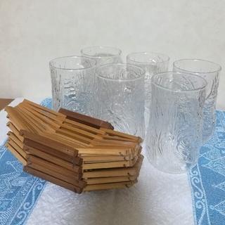 トウヨウササキガラス(東洋佐々木ガラス)の【未使用】 ガラスコップ おしぼり受け 東洋ガラス タンブラー おしぼり置き(グラス/カップ)