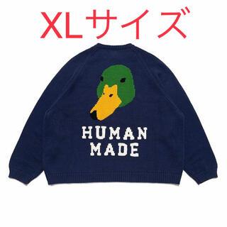 ジーディーシー(GDC)のXLサイズ HUMAN MADE RAGLAN SLEEVE KNIT(ニット/セーター)
