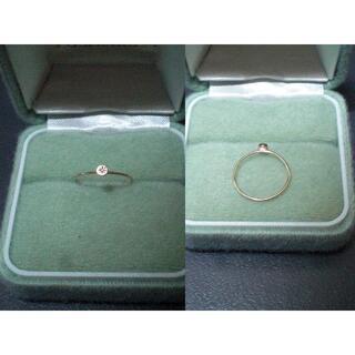 オーロラグラン(AURORA GRAN)のAURORA GRAN イゾラリングラウンド K10YG(リング(指輪))