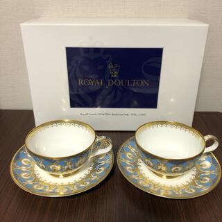 ロイヤルドルトン(Royal Doulton)の箱付未使用 ロイヤルドルトン BIRBECK バーベック カップ&ソーサー 2客(食器)