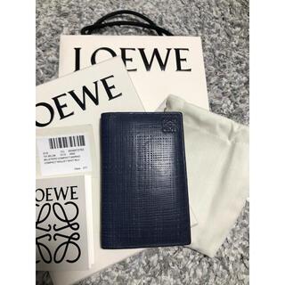 ロエベ(LOEWE)のLOEWE ロエベ カードケース 名刺入れ ネイビーブルー(名刺入れ/定期入れ)