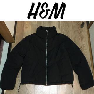 エイチアンドエム(H&M)の新品 H&M ビッグシルエット ダウンジャケット ブラック 黒 ショート(ダウンジャケット)