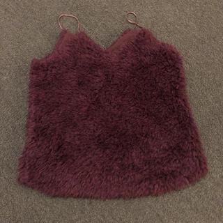 ローズバッド(ROSE BUD)のローズバッド 重ね着用キャミソール ファー シャギー (キャミソール)