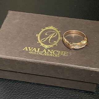 アヴァランチ(AVALANCHE)のAVALANCHE 10K ローズゴールドリング 9号(リング(指輪))