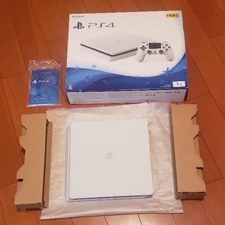 プレイステーション4(PlayStation4)のPS4 本体 1TB CUH-2100 動作確認済み プレステ4 ホワイト(家庭用ゲーム機本体)