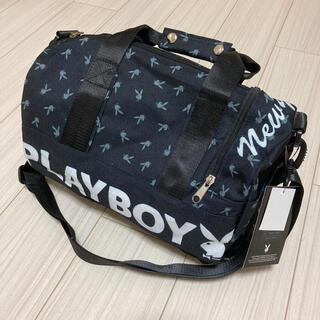 プレイボーイ(PLAYBOY)のボストンバッグ ドラムバッグ ショルダーバッグ かばん 黒 ブラック うさぎ(ショルダーバッグ)