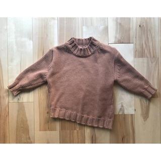 コドモビームス(こどもビームス)のnemo こどもふく購入 韓国子供服 キャメル ざっくりニット セーター(ニット)