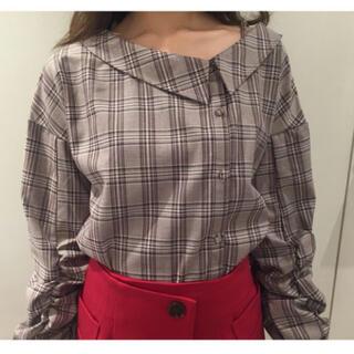 レディアゼル(REDYAZEL)のレディアゼル アシメワンショルダーチェックシャツ(シャツ/ブラウス(長袖/七分))