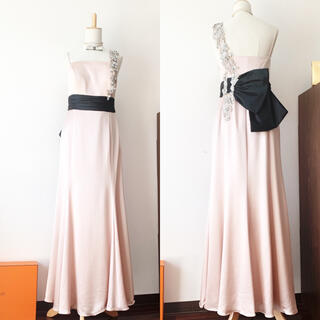 クリスチャンディオール(Christian Dior)の良品 クリスチャンディオール おりぼん  お花 ビジュー マーメイド ドレス(ロングドレス)