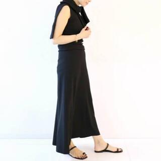ドゥーズィエムクラス(DEUXIEME CLASSE)のドゥーズィエムクラス バックサテンフレアスカート 新品未使用(ロングスカート)