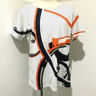Hermes - 未使用 エルメス ジョージワシントンの馬車 半袖シャツ ホワイト×マルチカラー