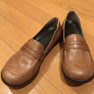 リゲッタ(Re:getA)の試着のみ未使用品☆リゲッタ☆ローファー☆ブラウン☆Sサイズ(ローファー/革靴)
