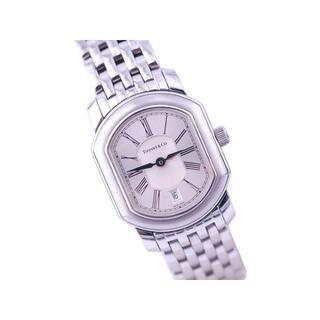 Tiffany & Co. - ティファニー マーククーペ SS デイト シルバー 文字盤 クォーツ 時計