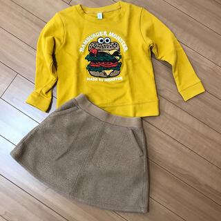 グラニフ(Design Tshirts Store graniph)のkidsスウェットトレーナー×ボアスカートセット(Tシャツ/カットソー)