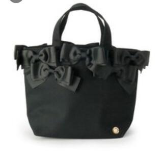 クチュールブローチ(Couture Brooch)のクチュールブローチ メニーリボントート 黒(トートバッグ)