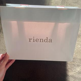 リエンダ(rienda)のriendaショップ袋(小)5枚セット(ショップ袋)