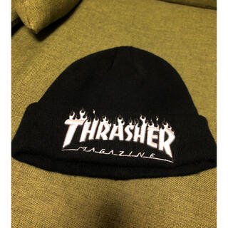 スラッシャー(THRASHER)のTHRASHER 黒ニット帽✨(ニット帽/ビーニー)