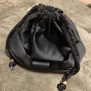 メゾンドフルール(Maison de FLEUR)のMaison de FLEUR★メゾンドフルール★黒の巾着バッグ(ハンドバッグ)