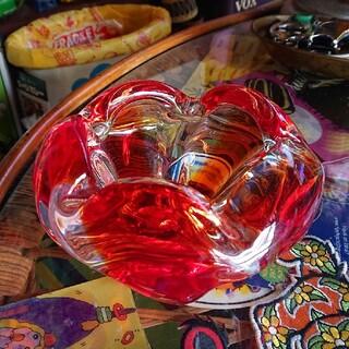 昭和レトロ ガラス灰皿 小物入れ(小物入れ)