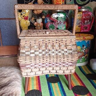 昭和レトロ ソーイングボックス 裁縫箱(ケース/ボックス)
