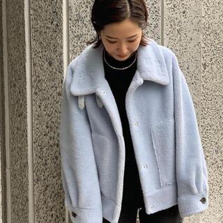 スタニングルアー(STUNNING LURE)のエコムートンショートジャケット stunning lure (ムートンコート)