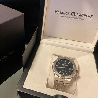 モーリスラクロア(MAURICE LACROIX)の(大人気)モーリスラクロア アイコン 42mm ブラック(腕時計(アナログ))