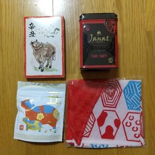 カルディ(KALDI)の新品 カルディ もへじエコバック他(茶)