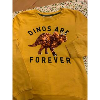エイチアンドエイチ(H&H)のH&M スパンコール 恐竜ダイナソー トレーナー 135/140cm(Tシャツ/カットソー)