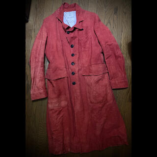 ポールハーデン(Paul Harnden)のJohn Alexander Skelton SS19 Coat Red(ステンカラーコート)