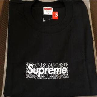シュプリーム(Supreme)のSupreme 19AW Bandana Box Logo Tee 黒 M(Tシャツ/カットソー(半袖/袖なし))