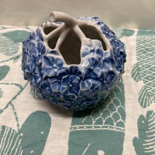 ロイヤルコペンハーゲン ベース 花瓶 アジサイ ブルー