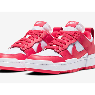 """NIKE WMNS DUNK LOW DISRUPT """"SIREN RED/WH(スニーカー)"""