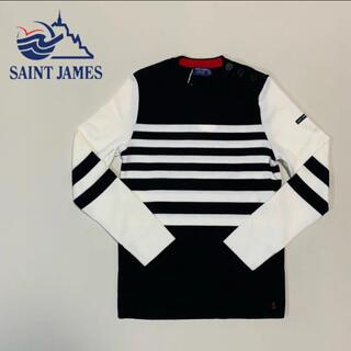セントジェームス(SAINT JAMES)の☆未使用 セントジェームス ショルダー ボタン ボーダー ニット フランス製(ニット/セーター)