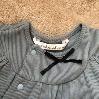 しまむら - ウタカタデコ ツーウェイドレス 半袖ロンパース 70