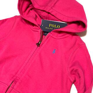 ポロラルフローレン(POLO RALPH LAUREN)の4T/110 ピンク 新品 DRAPEY TERRY フルジップ パーカー(ジャケット/上着)